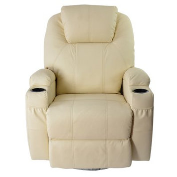 Red Barrel Studio Leather Adjustable Massage Chair Color: White