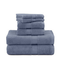 Under the Canopy Organic Cotton 6-Piece Towel Set - Blue