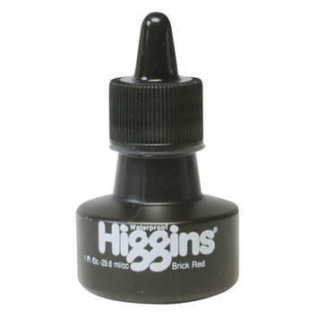 Higgins Waterproof Color Drawing Inks (Set of 3) Color: Red Brick