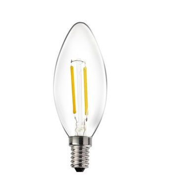 Livex Lighting E12/Candelabra LED Light Bulb (Set of 10) Wattage: 2W, Bulb Temperature: 3000K