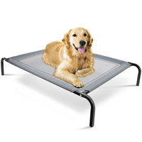 Oxgord 'Travel Gear Approved' Steel-Framed Portable Elevated Pet Cot Bed Cat/Dog, 32' by 25', Medium Gray