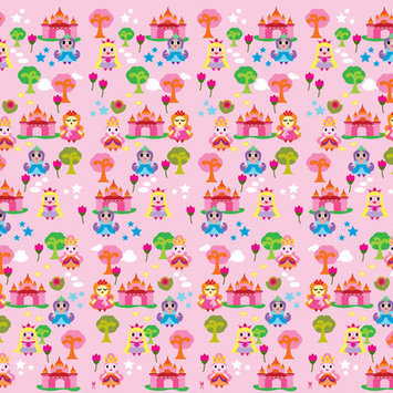 Wall Candy Arts WallCandy Arts French Bull Collection Removable Wallpaper (Princess) - Full Kit