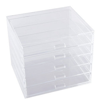 Ikee Design Acrylic 5 Drawer Cosmetic and Jewelry Organizer Tray