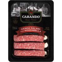 Carando® Classic Italian® Genoa Salami and Mozzarella Charcuterie Sticks 4.5 oz. Tray