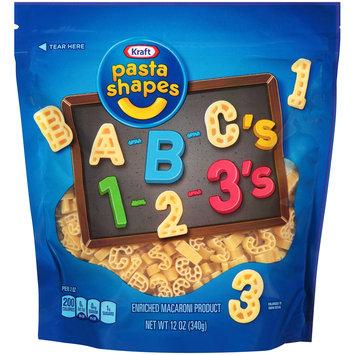 Kraft A-B-C's 1-2-3's Pasta Shapes 12 oz. Pouch