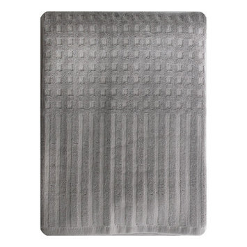 Homewear Linens City Stripe Honeycomb Bath Towel Color: Gray