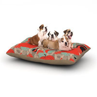 East Urban Home Akwaflorell 'It's Pumpkin Time' Dog Pillow with Fleece Cozy Top Size: Large (50