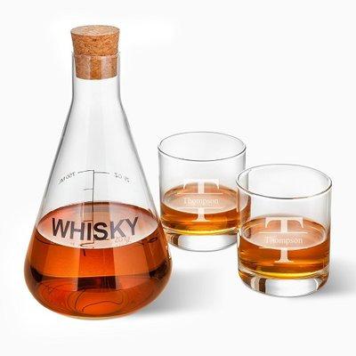 Latitude Run Welborn Personalized Whiskey Beverage Serving Set