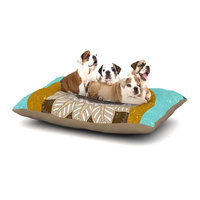 East Urban Home Art Love Passion 'Otter in Water' Dog Pillow with Fleece Cozy Top Size: Large (50