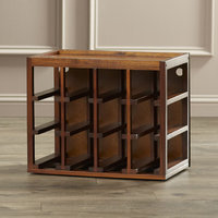 Darby Home Co Leopold 12 Bottle Tabletop Wine Rack Finish: Walnut Stain