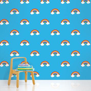 Wall Candy Arts WallCandy Arts Removable Wallpaper (Rainbow Blue) - Full Kit