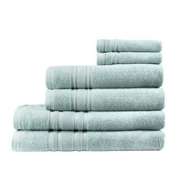 Melange Home Turkish Cotton Ensemble 6 Piece Towel Set Color: Celestial Blue