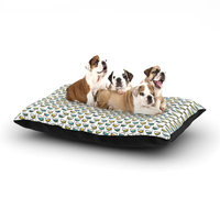 East Urban Home Julie Hamilton 'Spring Stem' Dog Pillow with Fleece Cozy Top Size: Large (50