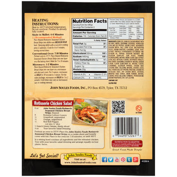 John Soules Foods® Rotisserie Seasoned Chicken Breast Strips 6 oz. Bag