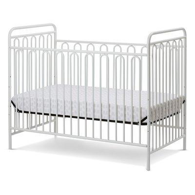La Baby Trinity Metal 3-in-1 Convertible Crib Finish: Alabaster White