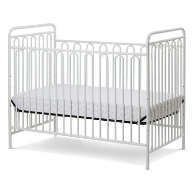 La Baby Trinity Metal 3-in-1 Convertible Crib Finish: Alabaster White