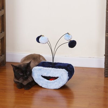 PetPals Light Blue Cat Toy with Teasing Toys
