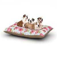 East Urban Home Heidi Jennings 'Petals Forever' Dog Pillow with Fleece Cozy Top Size: Small (40
