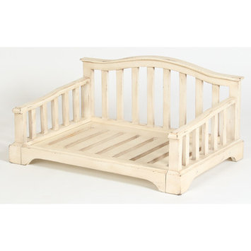 Dogstuffdepot French Country Solid Wood Dog Bed Size: Small (28.5