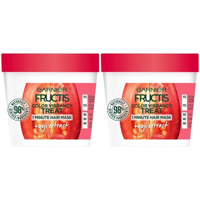 Garnier® Fructis® Color Vibrancy Treat + Goji Extract 1 Minute Hair Mask 2-3.4 fl. oz. Tubs