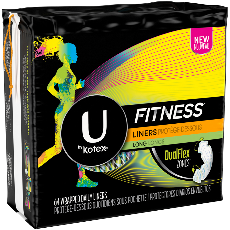 U by Kotex Fitness* Liners Long