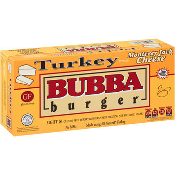 Bubba Burger® Turkey with Real Monterey Jack Cheese Burgers 8 ct Box