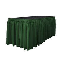 La Linen Table Skirt Color: Hunter Green