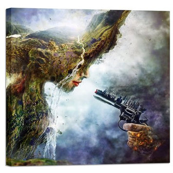 East Urban Home 'Betrayal' Graphic Art Print on Wrapped Canvas