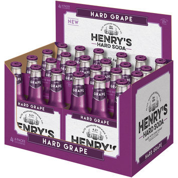 Henry's Hard Soda™ Hard Grape Soda 24-12 fl. oz. Glass Bottles