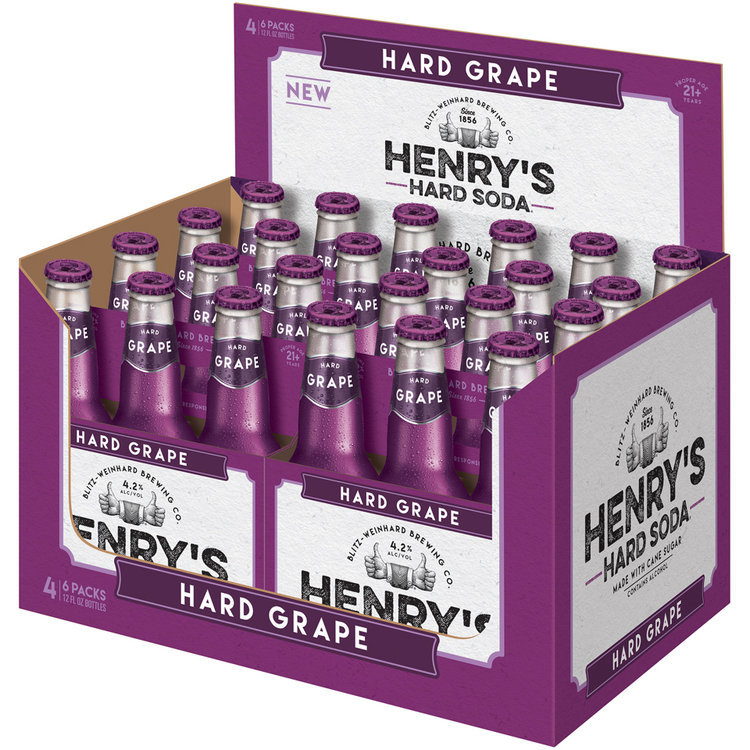 henry's hard soda™ hard grape soda 2 glass