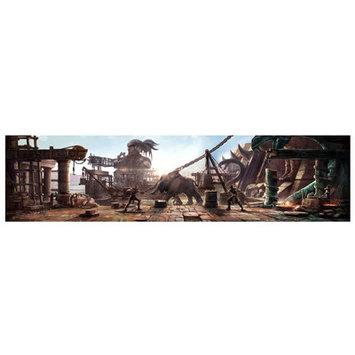 Lord Mischief 'Aztec Courtyard' Graphic Art