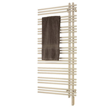Runtal Radiators Versus Electric Towel Warmer Wiring: Plug-In, Finish: White, Size: 69