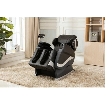 Red Barrel Studio Zero Gravity Massage Chair with Footrest Upholstery: Black