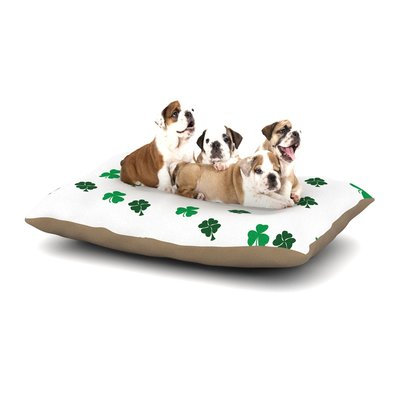 East Urban Home KESS Original 'Shamrockin' St. Patrick Dog Pillow with Fleece Cozy Top Size: Small (40