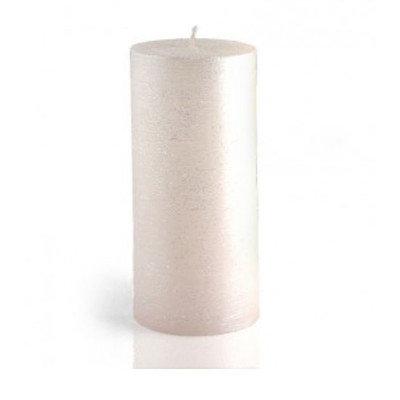 Birch Lane Shimmer Pillar Candle Color: White, Size: 3