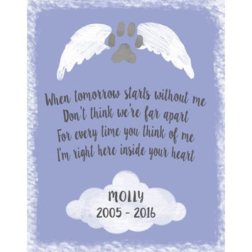 Hadleyhouseco Personalized Pet Memorial Textual Art Wall Plaque on Wood Matte Color: Birdy Blue