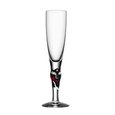 Kosta Boda Open Minds by Ulrica Hydman Vallien Champagne Glass