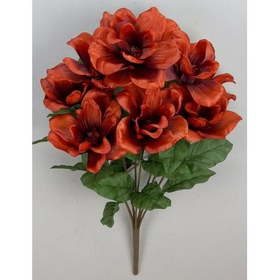Laurel Foundry Modern Farmhouse Artificial Magnolia Flowers Bush Color: Tuscany