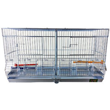 A & E Cage Co Stackable Double Wide Breeder with Divider
