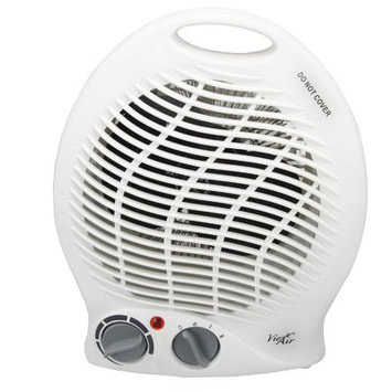 Infolist Corp. Vie Air 970100343M 1500W Portable Dual Setting White Home Fan Heater with Adjustable Thermostat