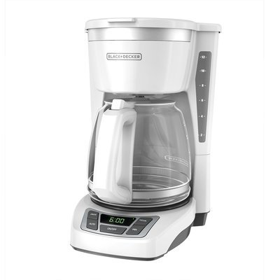 Black & Decker 12-Cup Programmable Coffee Maker Color: White