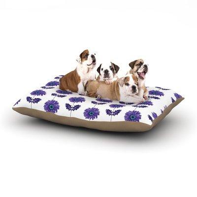 East Urban Home Laura Escalante 'Gerbera' Flower Dog Pillow with Fleece Cozy Top Size: Small (40