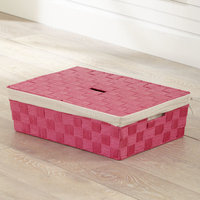 Birch Lane Kids Lidded Underbed Basket Color: Pink