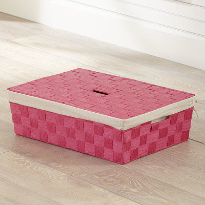 Birch Lane Kids Lidded Underbed Basket Color: Pink