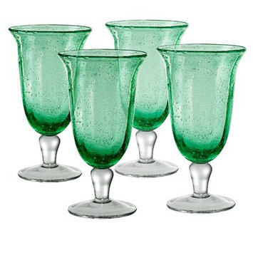 Fleur De Lis Living Alice Bubble Goblet Color: Green