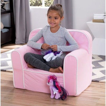 Delta Enterprise Corp Delta Children Foam Snuggle Chair, Pink with White