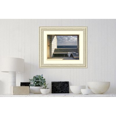 Rosecliff Heights 'Sea Bench' Framed Print on Wood