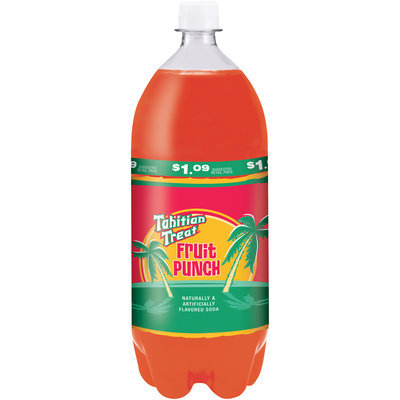 Tahitian Treat Fruit Punch Soda, 2 L Bottle