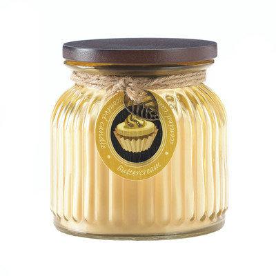 Koehlerhomedecor Butter Cream Ribbed Jar Candle