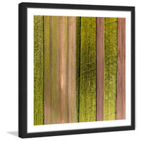 Marmont Hill Inc Marmont Hill - 'Crop Rows' by Karolis Janulis Framed Painting Print